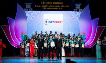 """PECC1 đạt giải thưởng """"Doanh nghiệp tiêu biểu Việt Nam - ASEAN 2020"""""""
